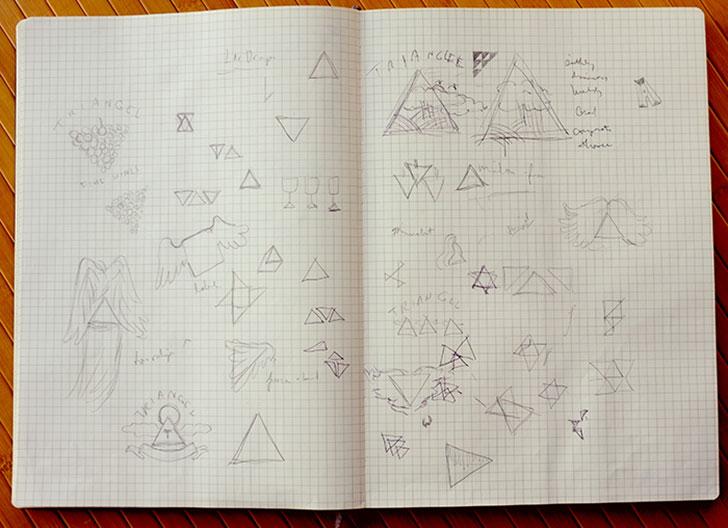 Public Marking - Triangel Sketch Process Branding Logo