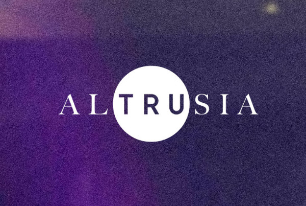 Public Marking Altrusia Branding Logo Bokeh Background