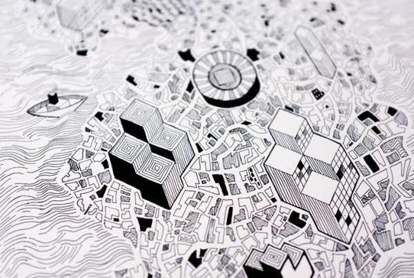 Public Marking - Cartographic Repeat Surface Textile Design