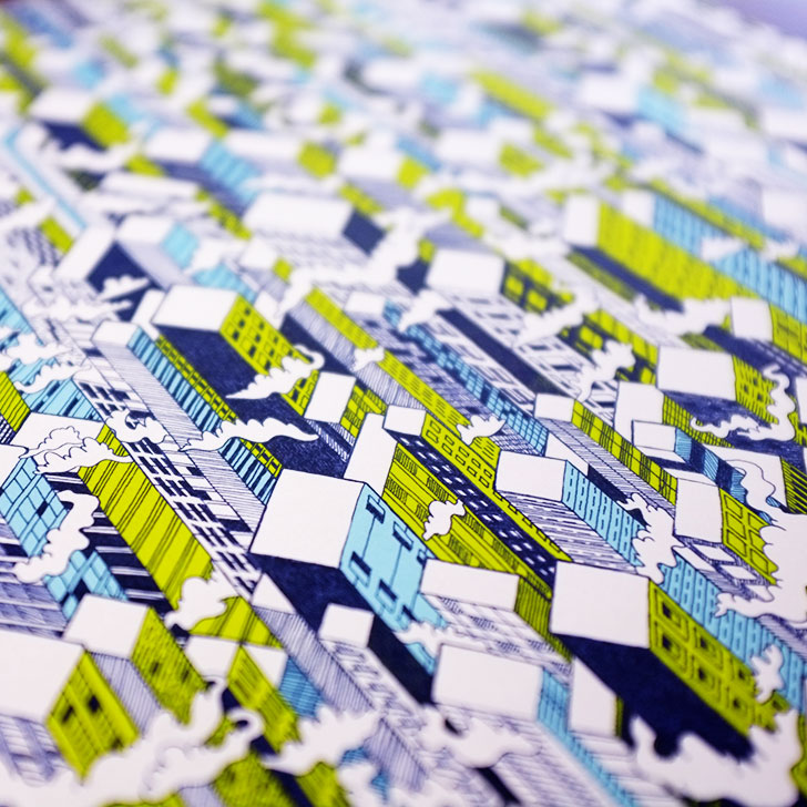Public Marking City Repeat Surface Textile Design