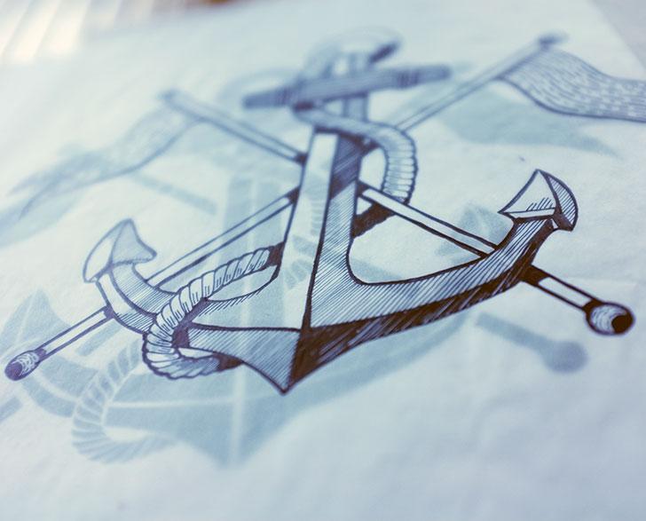 Public Marking Athletic Recon Anchor Graphic - Sketch