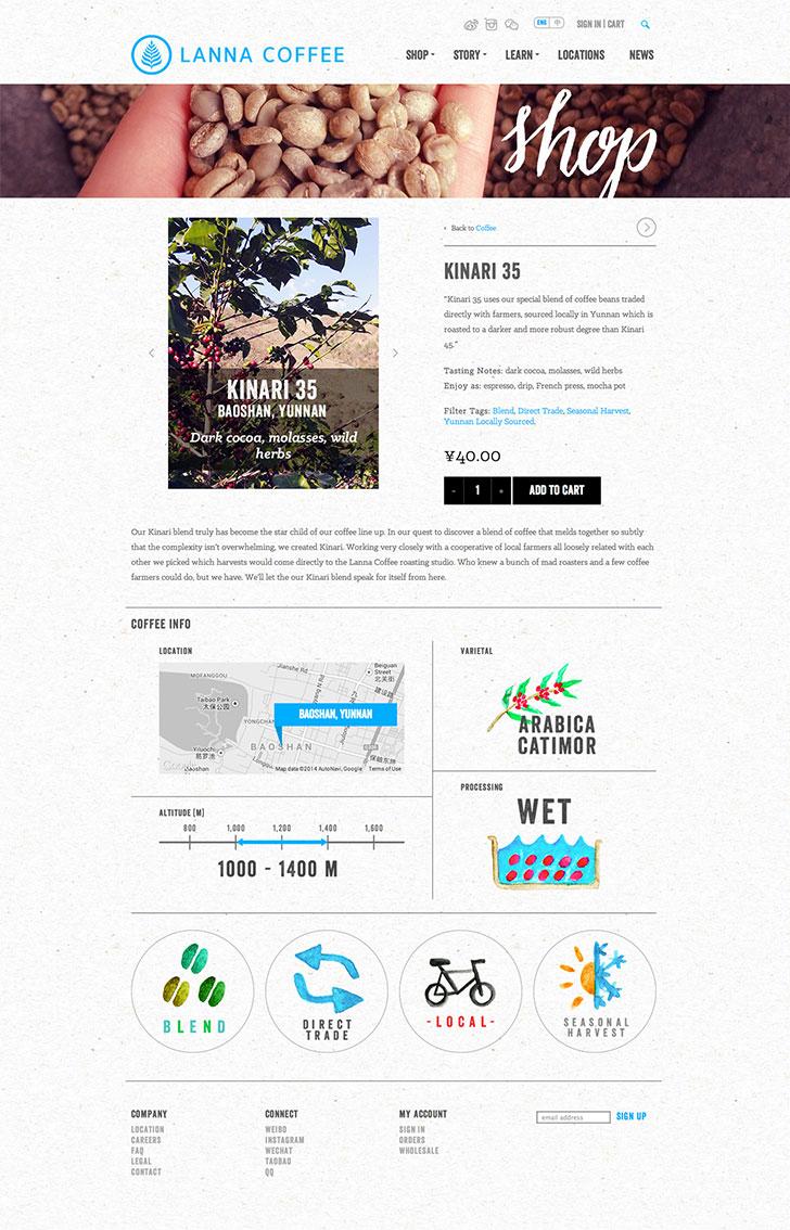 Public Marking Lanna Coffee Website Single Product