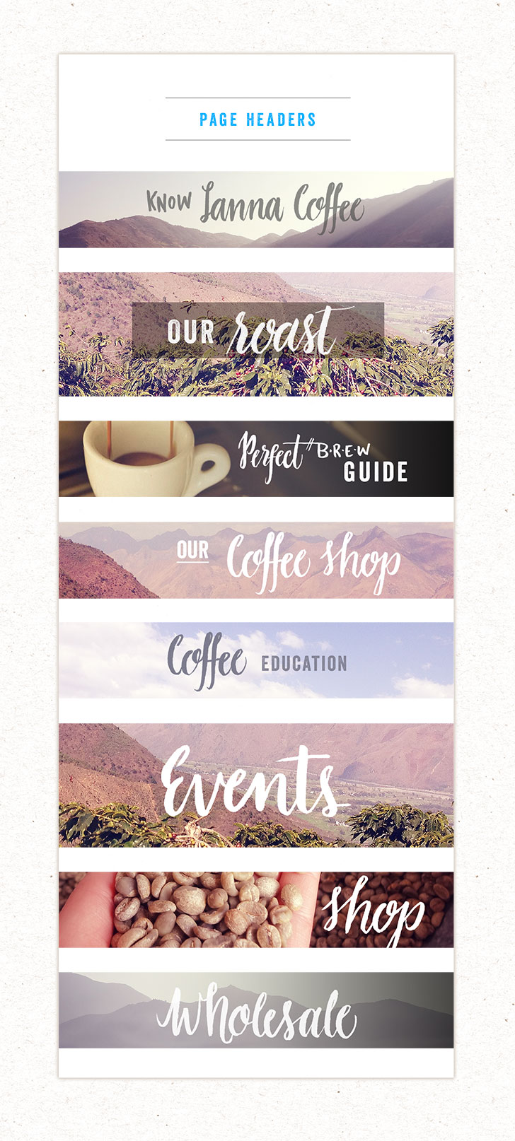 Public Marking Lanna Coffee Website Headers