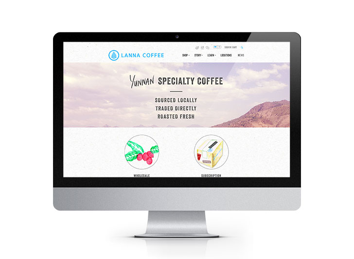 Public Marking Lanna Coffee Website Homepage