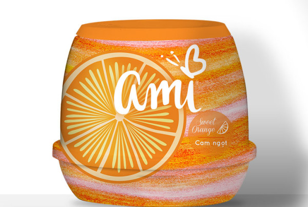 Public Marking Ami Air Freshener Gel - Sweet Orange
