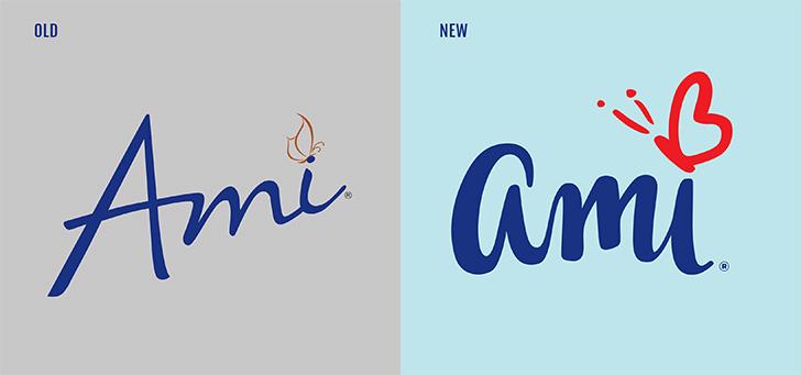 Public Marking Ami Logo Refinement - Heart Butterfly