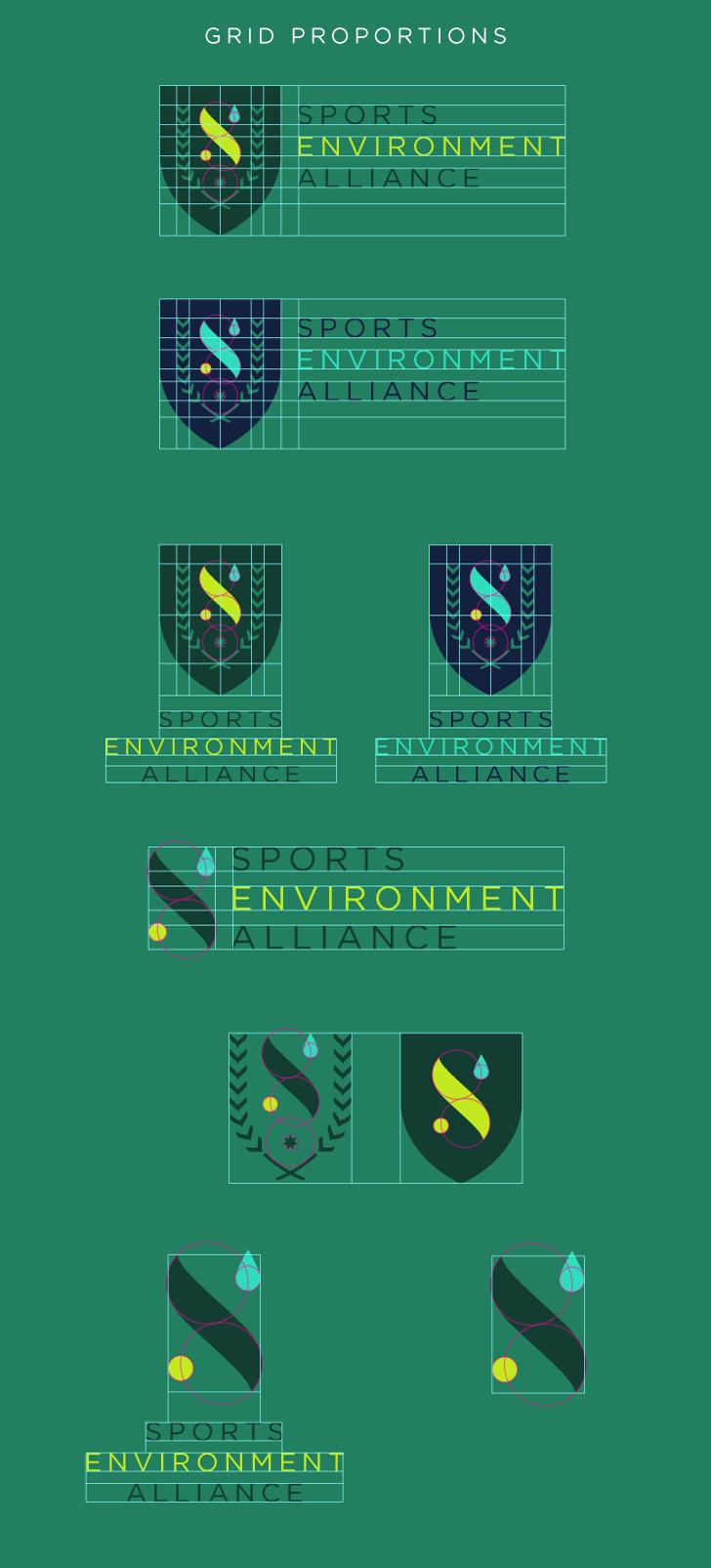 Public Marking Sports Environment Alliance Logo Grid