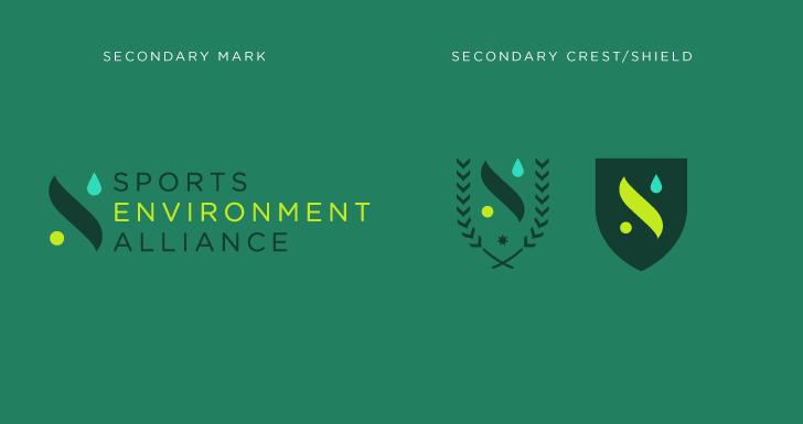 Public Marking Sports Environment Alliance Logo variants