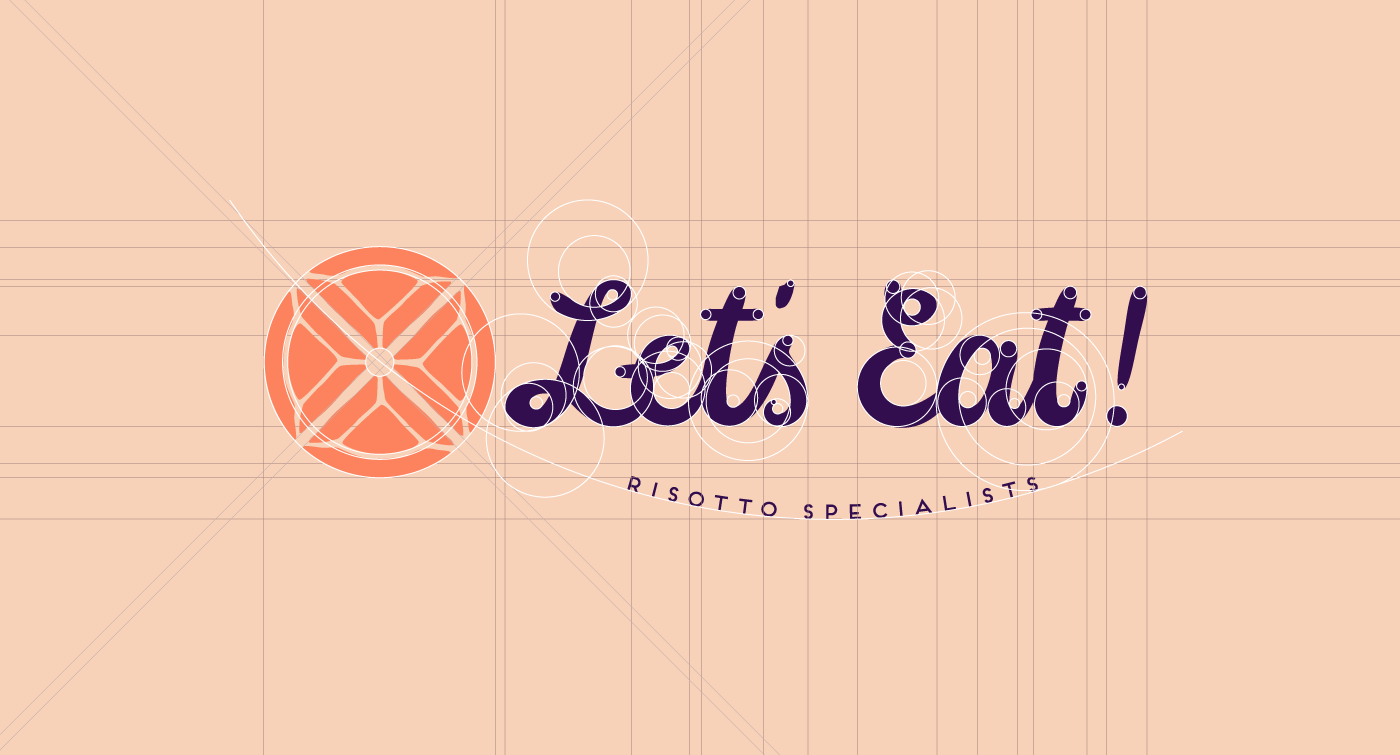 Public Marking Let's Eat Logo Grid