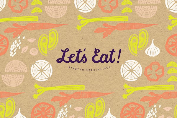 Public Marking Let's Eat Logo with Pattern