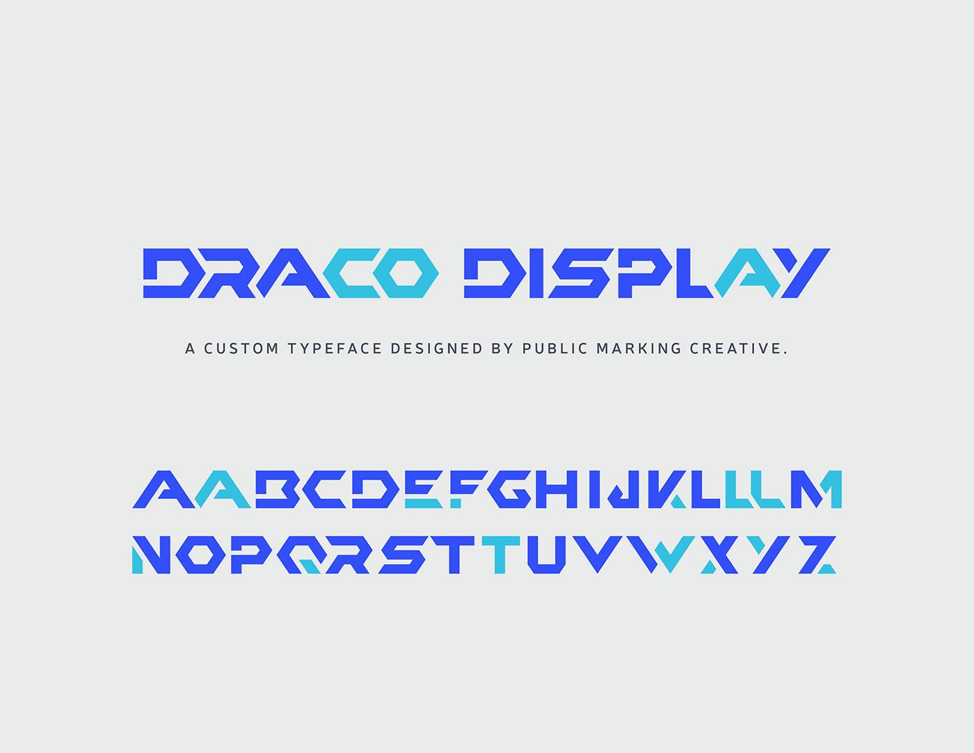 Public Marking Draco Custom Display Type Font