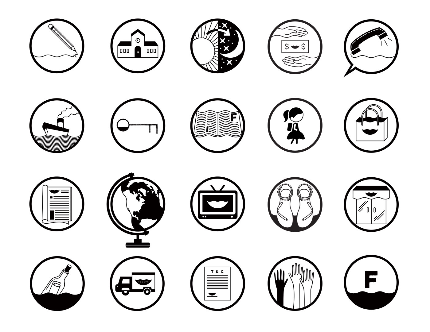 Public Marking Fleeps Icons