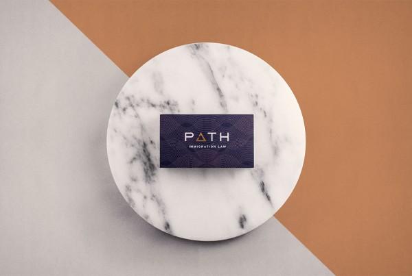 Public Marking Path Law Business Card