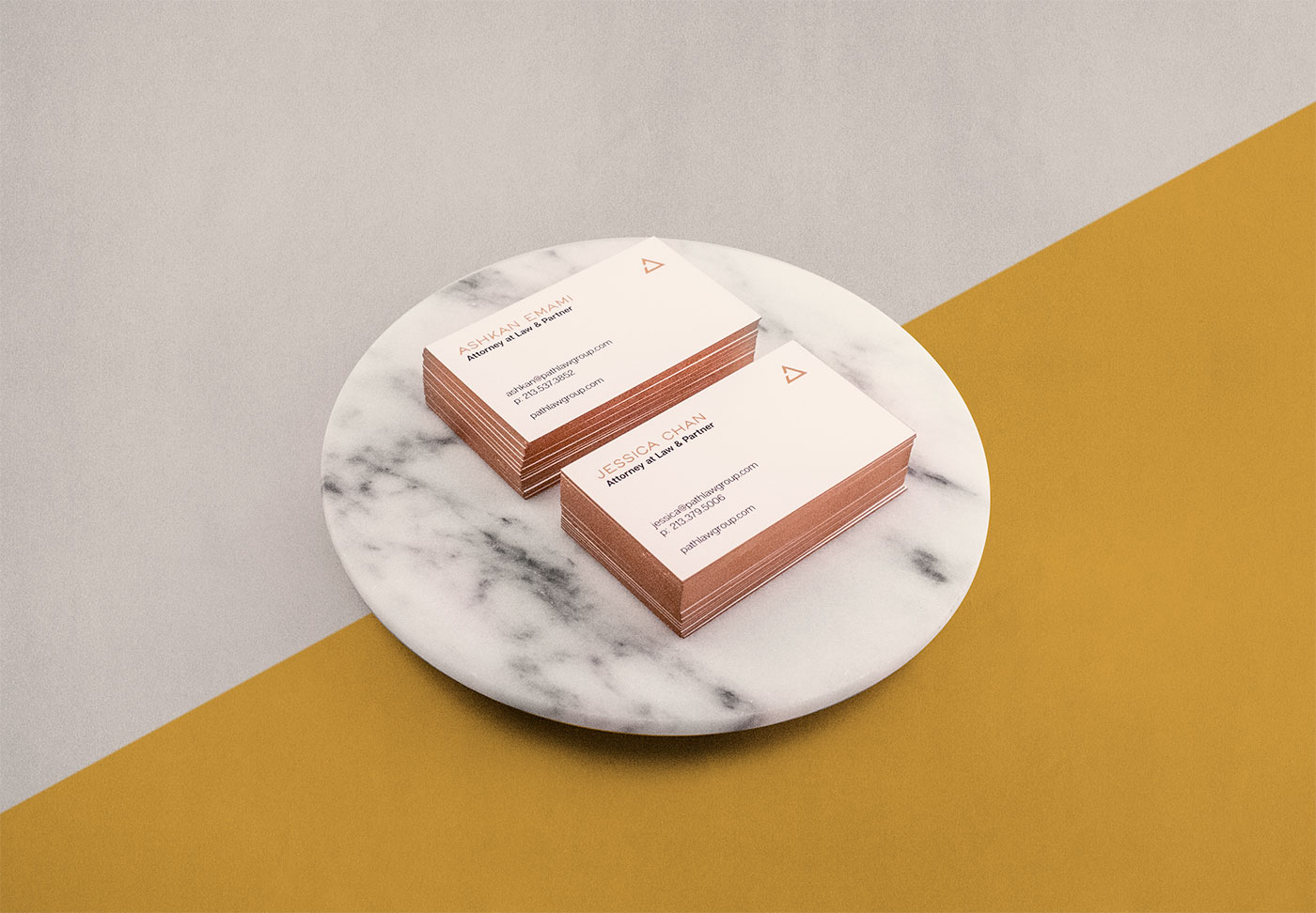 Public Marking Path Law Brand Identity Business Cards
